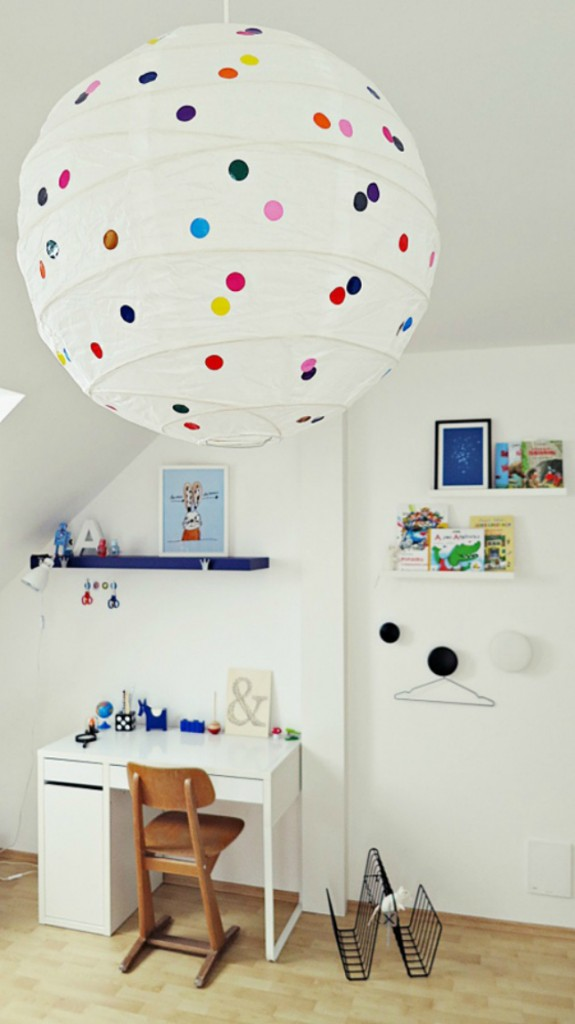 colorful-paper-lantern-lamp 20+ Best Ceiling Lamp Ideas for Kids' Rooms in 2022