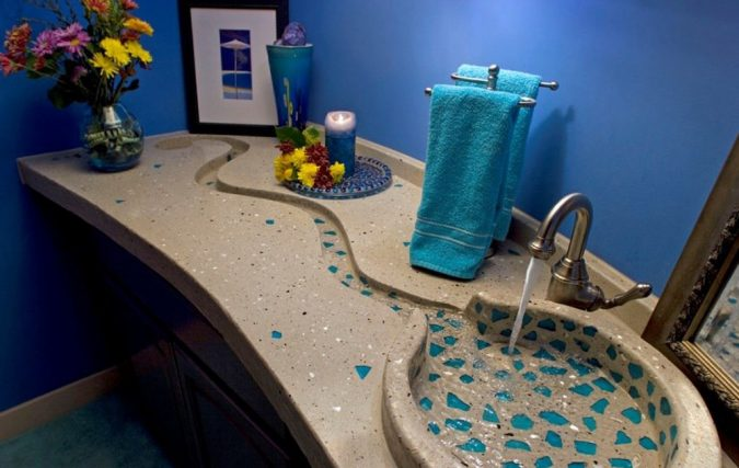 concrete-bathroom-sink-675x427 Top 10 Modern Bathroom Sink Design Ideas