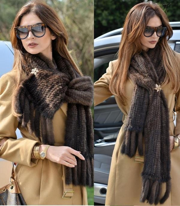 fur-scarves-11 20+ Catchiest Scarf Trends for Women in 2020