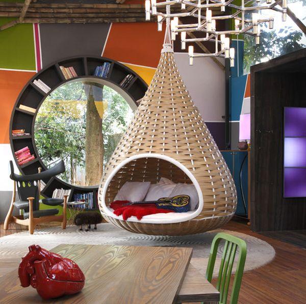 hanging-bed 7 Design Ideas for Teens' Bedrooms