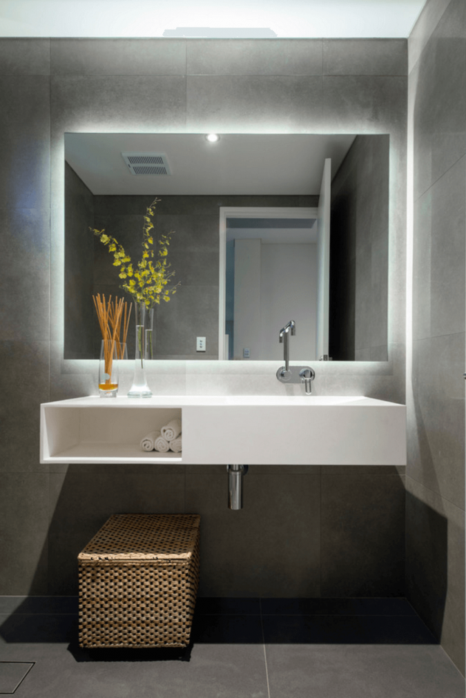 illuminated-large-bathroom-mirror-675x1011 Latest Trends: Best 27+ Bathroom Mirror Designs