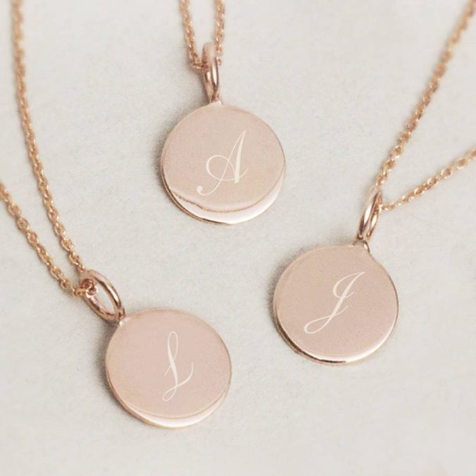 initialed-necklace-675x675 6 Main Necklace Trends For Summer 2018