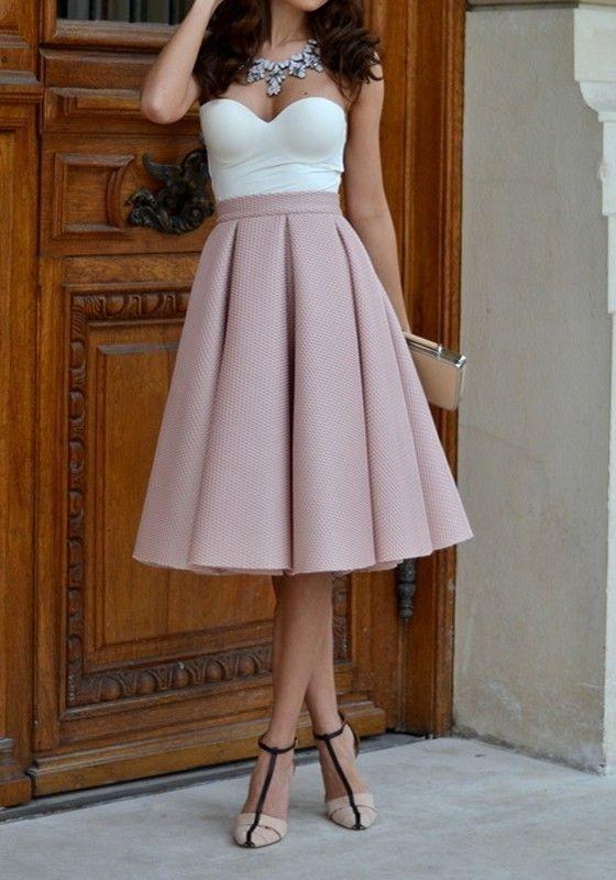 knee-length-skirts-3 15 Spring & Summer Fashion Trends for Women 2017