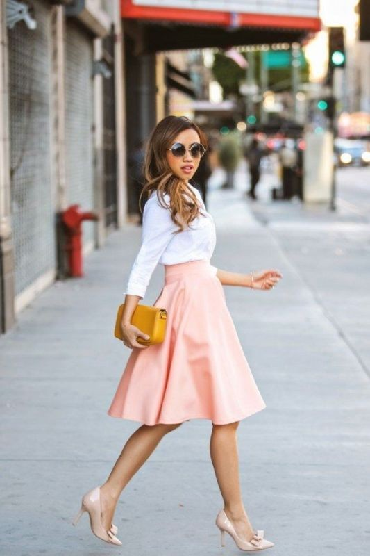 knee-length-skirts-4 15+ Best Spring & Summer Fashion Trends for Women 2018