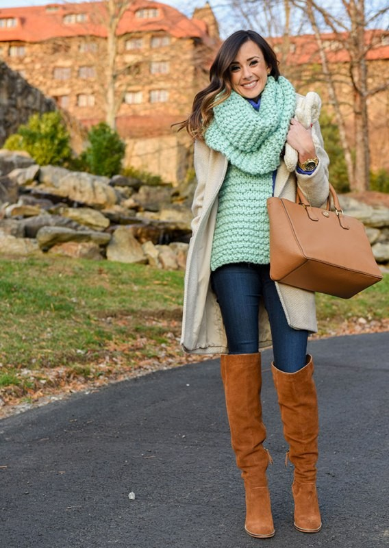 knit-scarves-10 20+ Catchiest Scarf Trends for Women in 2020