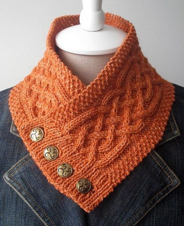 knit-scarves-14 20+ Catchiest Scarf Trends for Women in 2020