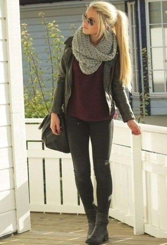 knit-scarves-5 20+ Catchiest Scarf Trends for Women in 2020