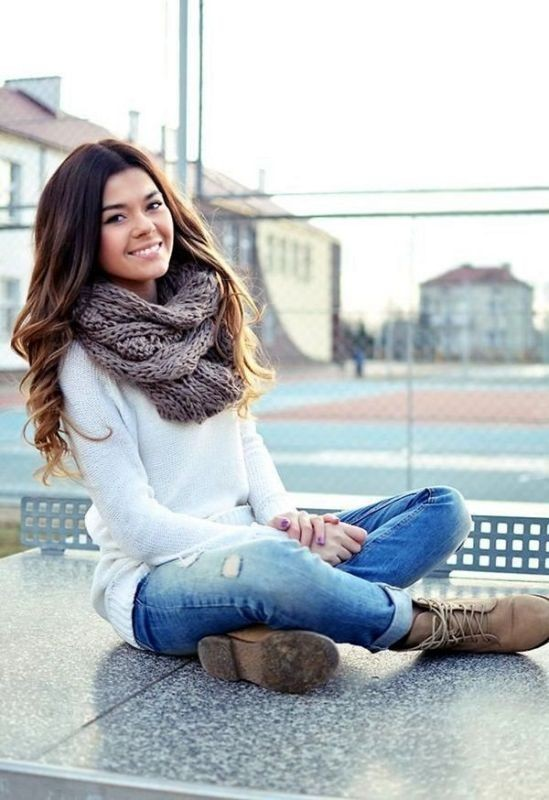 knit-scarves-9 20+ Catchiest Scarf Trends for Women in 2020