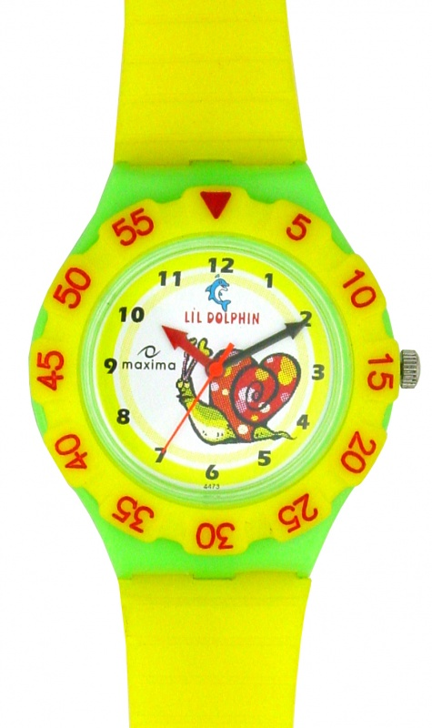 maxima-yellow-plastic-kids-analog-watch-04473ppkw 75 Amazing Kids Watches Designs
