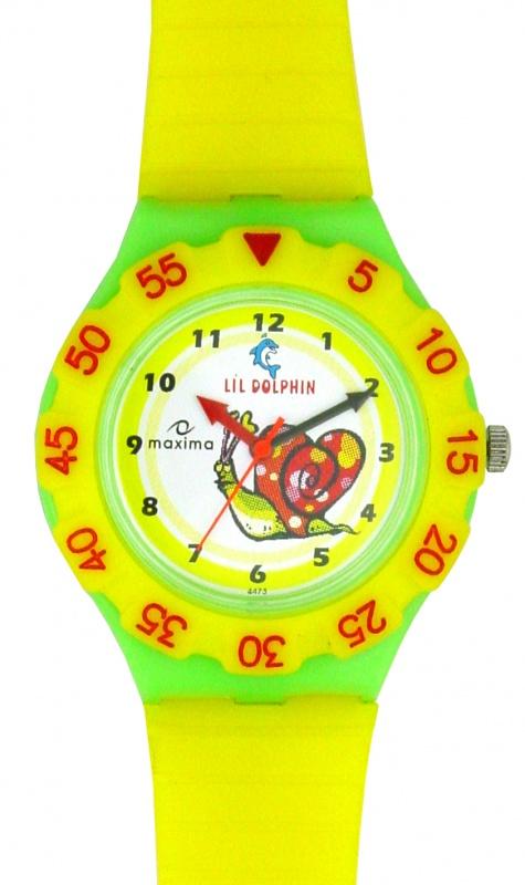 maxima-yellow-plastic-kids-analog-watch-04473ppkw 75 Amazing Kids Watches Designs