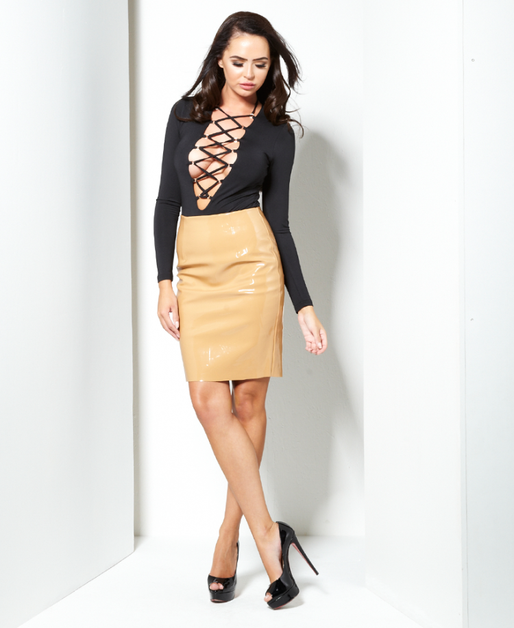 naanaa-layla-high-shine-pencil-skirt-p308-7470_image 25+ Women Engagement Outfit Ideas Coming in 2018