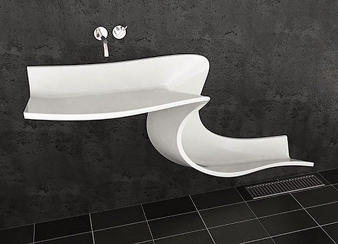 slide-bathroom-sink3-675x488 Top 10 Modern Bathroom Sink Design Ideas