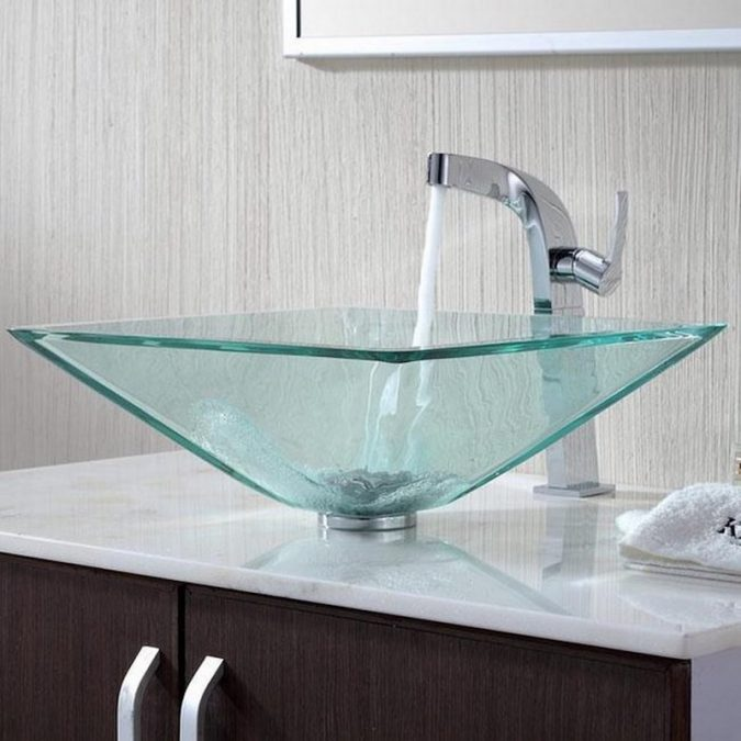 square-glass-sink-675x675 Top 10 Modern Bathroom Sink Design Ideas in 2017