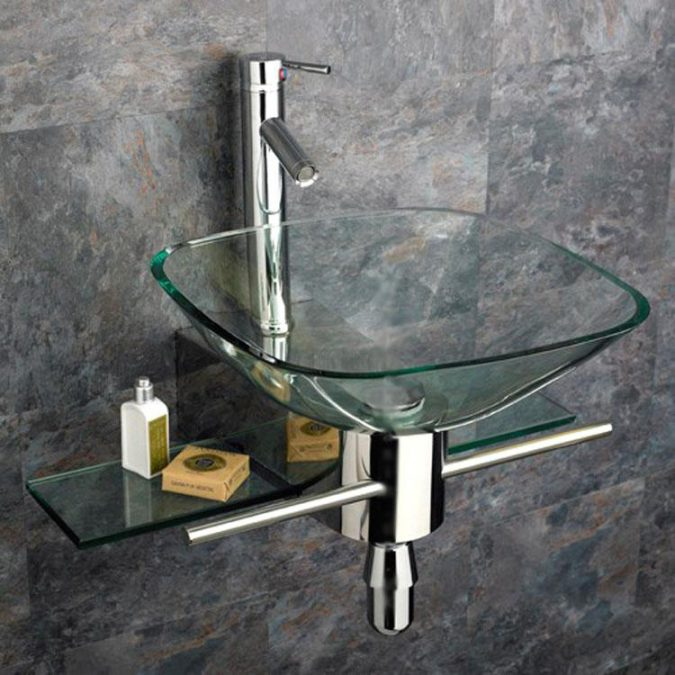 square-glass-sink2-675x675 Top 10 Modern Bathroom Sink Design Ideas in 2017