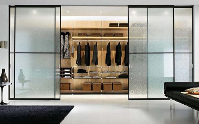 transparent-glass-wardrobe-675x422 Most Stylish 6 Bedroom Wardrobes Design Ideas