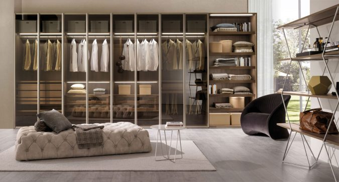 transparent-glass-wardrobe2-675x363 Most Stylish 6 Bedroom Wardrobes Design Ideas