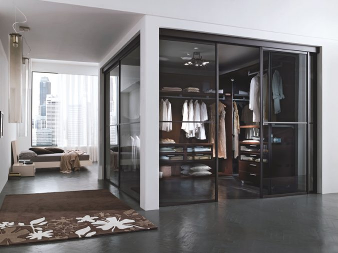 transparent-glass-wardrobe6-675x506 Most Stylish 6 Bedroom Wardrobes Design Ideas