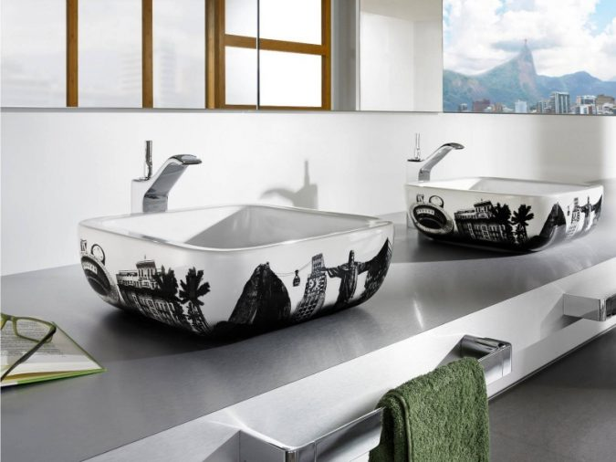 unique-sink-with-world-famous-landmark-images-675x506 Top 10 Modern Bathroom Sink Design Ideas in 2017