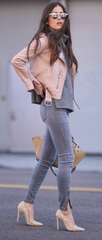 women-leather-jackets-2017-10 80+ Most Stylish Leather Jacket Trends for Women (Updated List)
