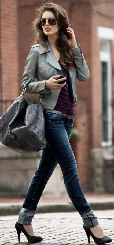 women-leather-jackets-2017-12 80+ Most Stylish Leather Jacket Trends for Women (Updated List)