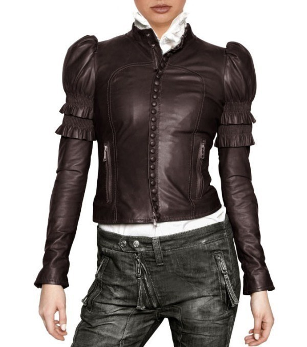 women-leather-jackets-2017-17 80+ Most Stylish Leather Jackets for Women in 2018