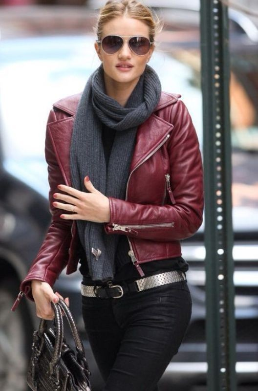 women-leather-jackets-2017-20 80+ Most Stylish Leather Jacket Trends for Women (Updated List)