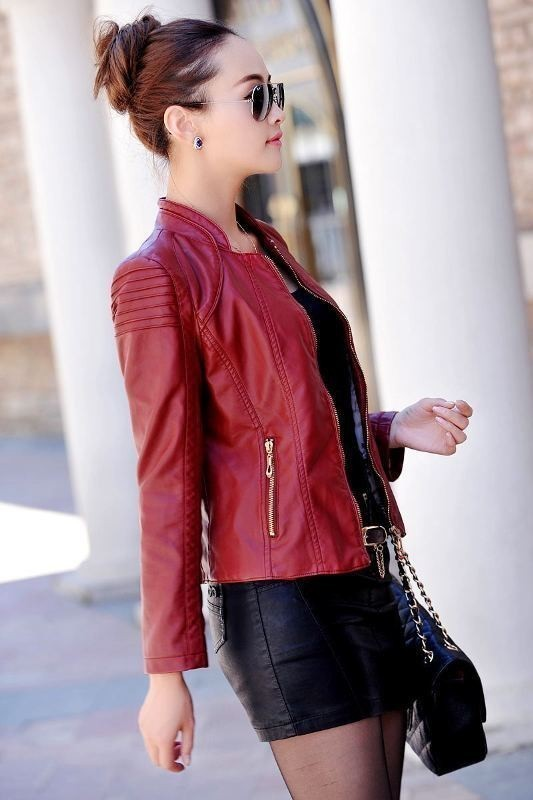 women-leather-jackets-2017-21 80+ Most Stylish Leather Jackets for Women in 2018