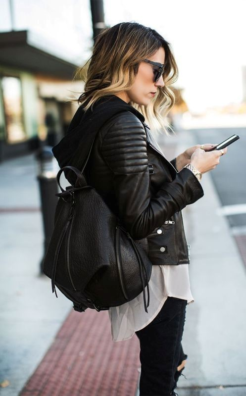 women-leather-jackets-2017-24 80+ Most Stylish Leather Jackets for Women in 2018