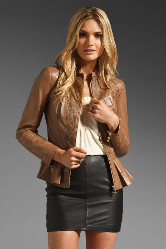 women-leather-jackets-2017-25 80+ Most Stylish Leather Jackets for Women in 2018