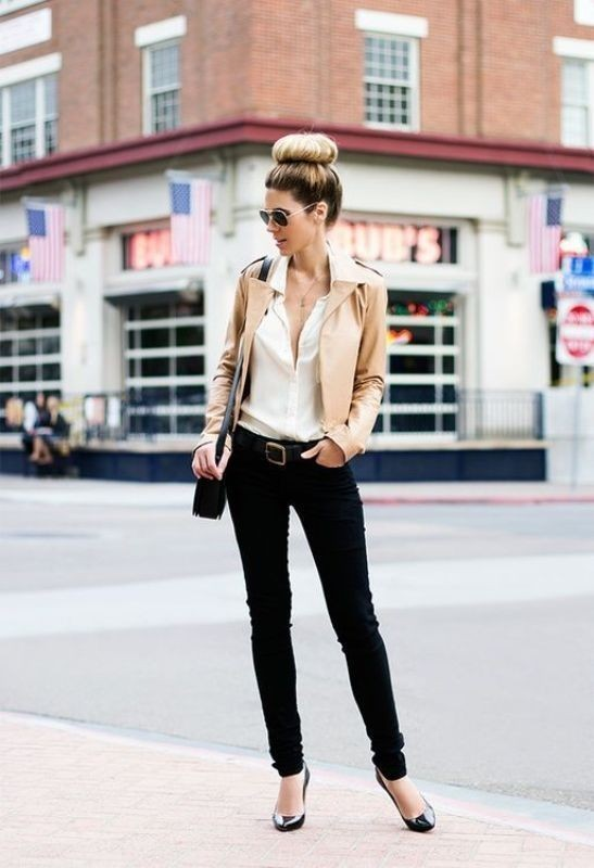 women-leather-jackets-2017-29 80+ Most Stylish Leather Jacket Trends for Women (Updated List)