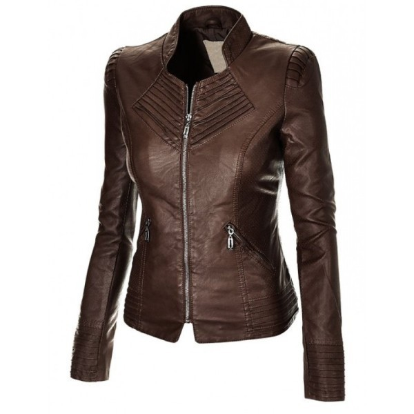 women-leather-jackets-2017-3 80+ Most Stylish Leather Jackets for Women in 2018