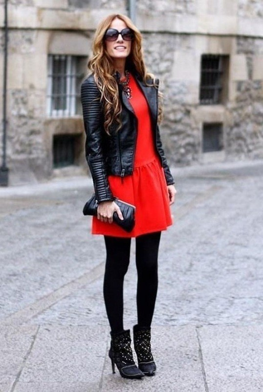 women-leather-jackets-2017-31 80+ Most Stylish Leather Jacket Trends for Women (Updated List)