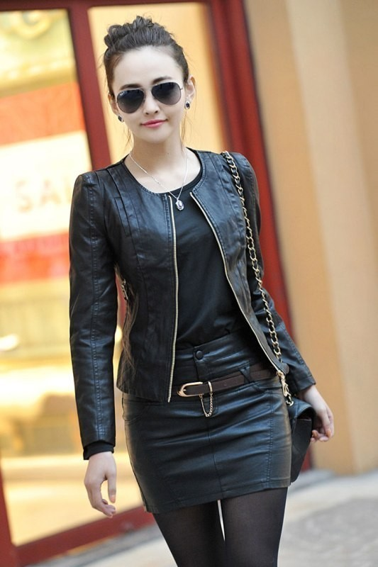 women-leather-jackets-2017-38 80+ Most Stylish Leather Jackets for Women in 2018