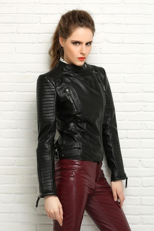 women-leather-jackets-2017-43 80+ Most Stylish Leather Jackets for Women in 2018