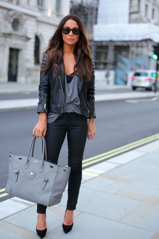 women-leather-jackets-2017-44 80+ Most Stylish Leather Jackets for Women in 2018