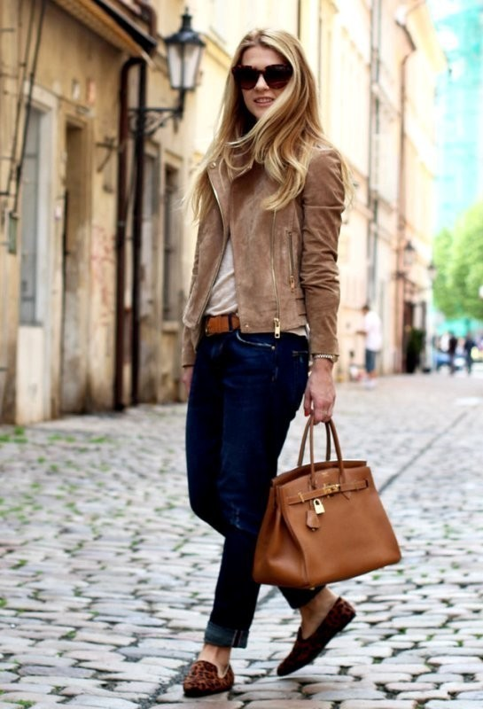 women-leather-jackets-2017-51 80+ Most Stylish Leather Jackets for Women in 2018