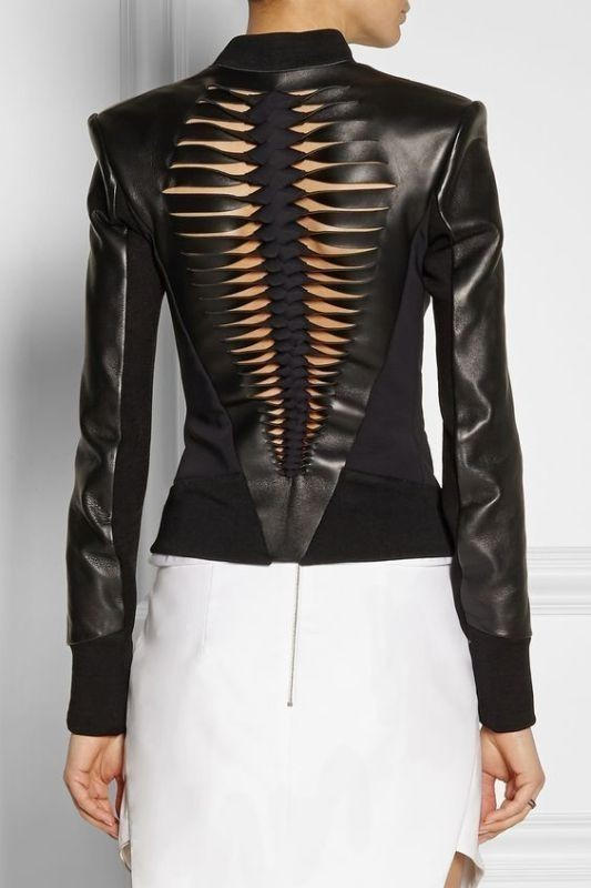 women-leather-jackets-2017-60 80+ Most Stylish Leather Jackets for Women in 2018