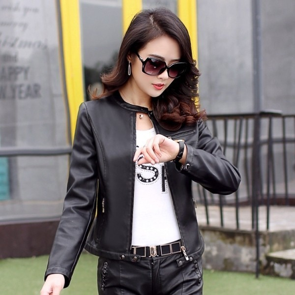 women-leather-jackets-2017-64 80+ Most Stylish Leather Jackets for Women in 2018