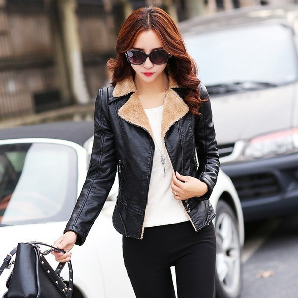 women-leather-jackets-2017-66 80+ Most Stylish Leather Jackets for Women in 2018