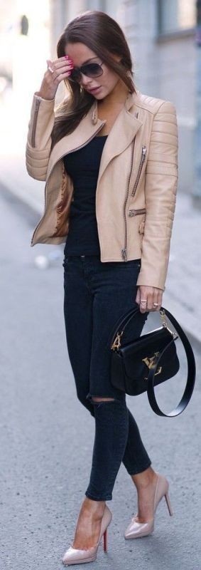 women-leather-jackets-2017-7 80+ Most Stylish Leather Jackets for Women in 2018