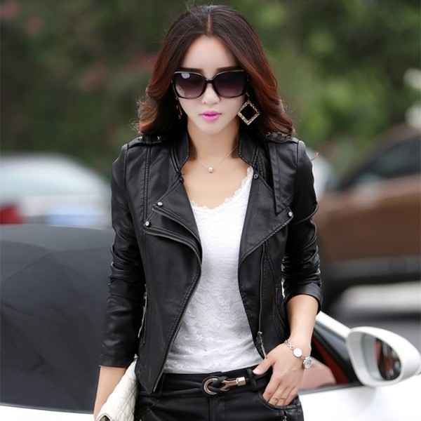 women-leather-jackets-2017-74 80+ Most Stylish Leather Jackets for Women in 2018