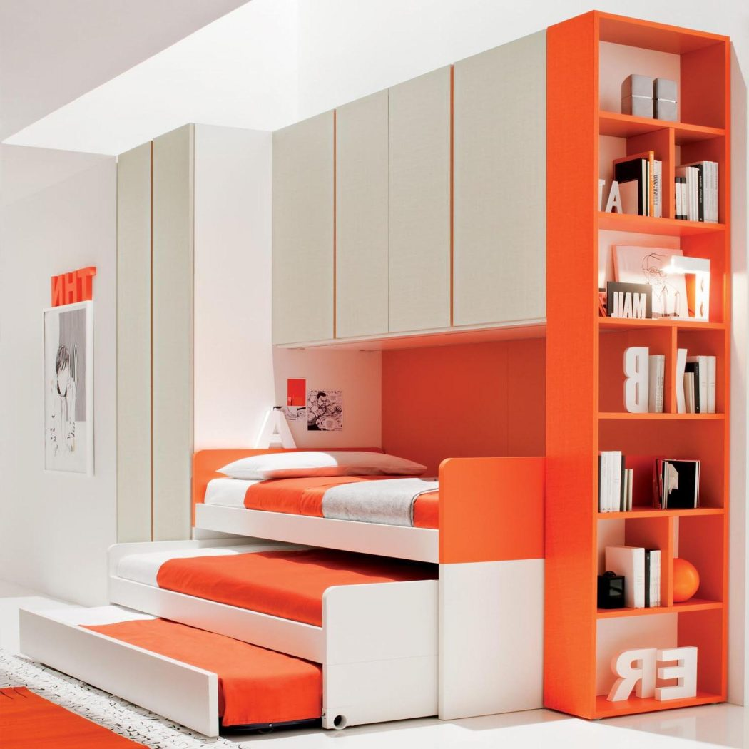 20-best-orange-bedroom-design-2016-aida-homes-cool-kids-with-bright-color-book-shelves_book-shelves-in-the-bed_dining-room_dining-room-table-pads-black-light-fixture-rustic-sets-in-spanish-white-7-pie 5 Main Bedroom Design Trends For 2018