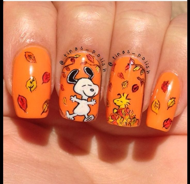 26b0ff24ec7d4e78a79b890a334b5e5b 10 Thanksgiving Nail Art Design To Try