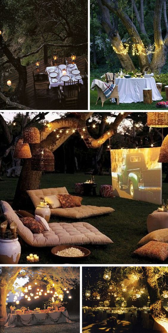 A-Backyard-Movie4 10 Best Outdoor Wedding Ideas in 2018