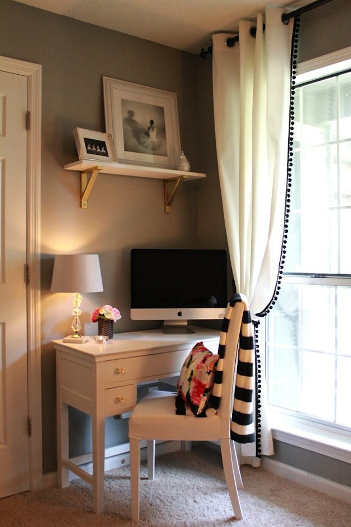 A-Corner-For-Assignments1 Top 5 Girls' Bedroom Decoration Ideas in 2018