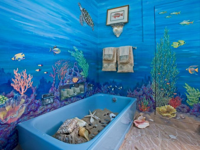 Amazing-Nautical-Bathroom-Decor-675x506 5 Bathroom Designs of kids' Dreams