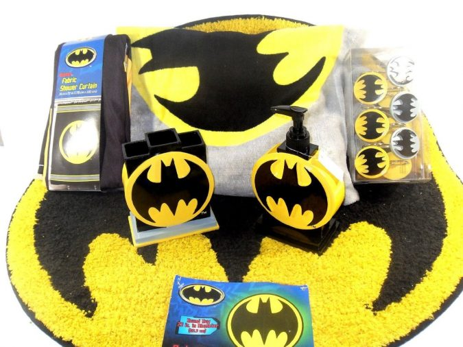 Batman-bath-rug2-675x506 25+ Cutest Kids Bathroom Rugs for 2018