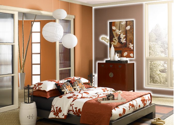 Behr-Fired-Up-orange-675x486 Best 25+ Orange Bedroom Decor and Design Ideas in 2018
