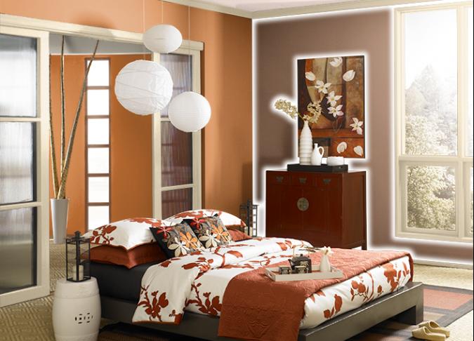 Behr-Fired-Up-orange-675x486 25+ Elegant Orange Bedroom Decor Ideas