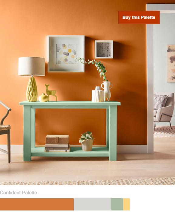 Behr-confident-orange-2017 25+ Orange Bedroom Decor and Design Ideas for 2017